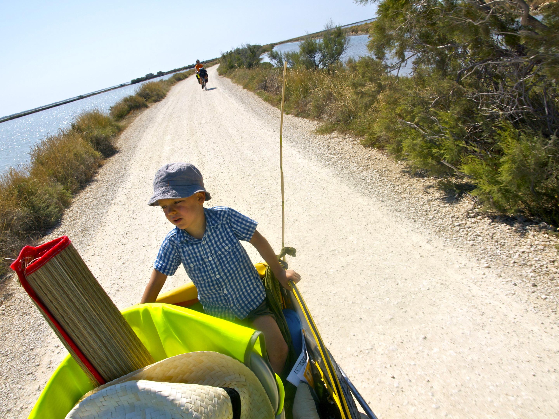 Rando dans le Gard en vélo-remorque avec les enfants