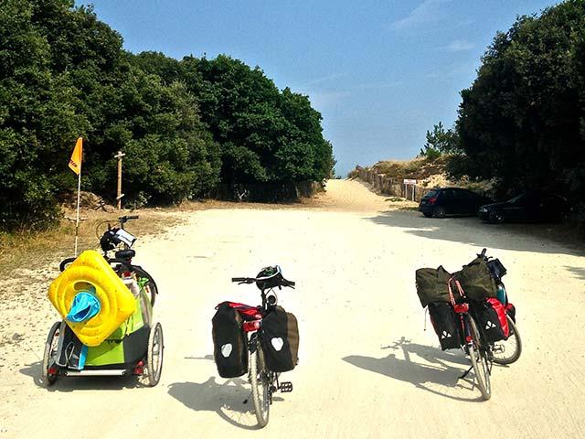 La côte atlantique à vélo en famille