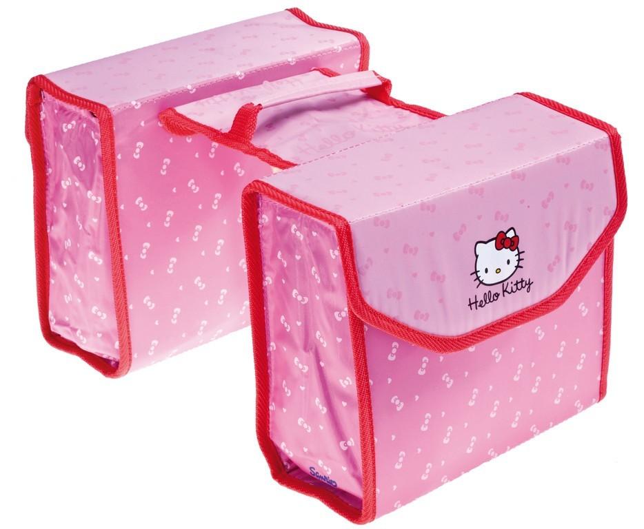 Sacoche vélo arrière double Hello Kitty