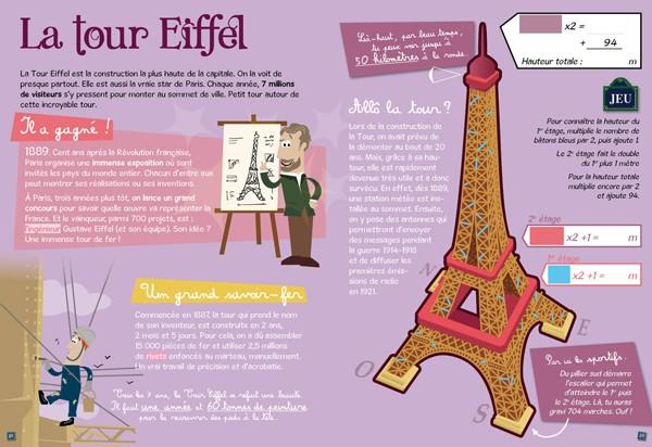 Paris des enfants guide d couverte et jeux direction - Les dimensions de la tour eiffel ...