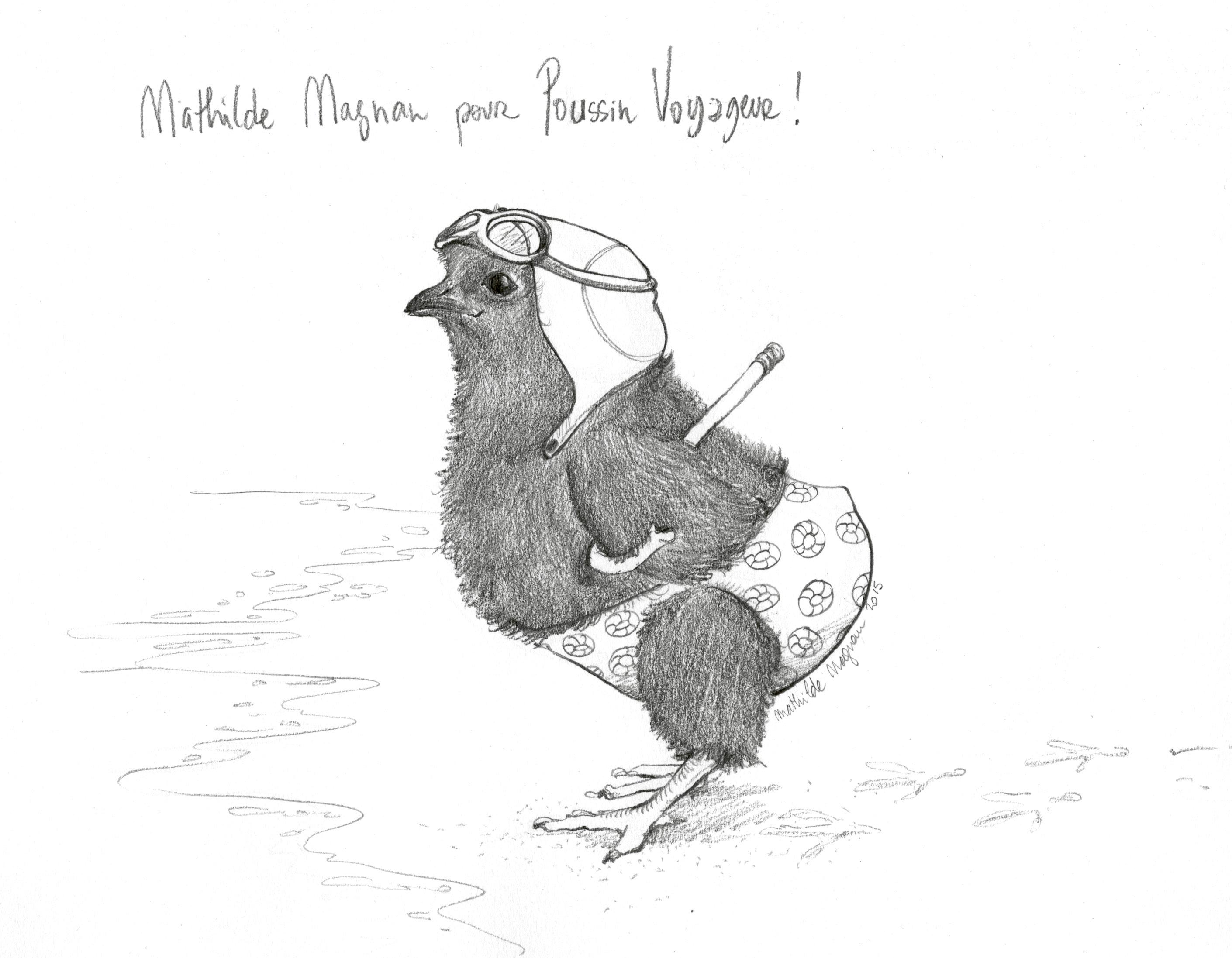 Avec Mathilde Magnan, Poussin Voyageur va faire trempette !