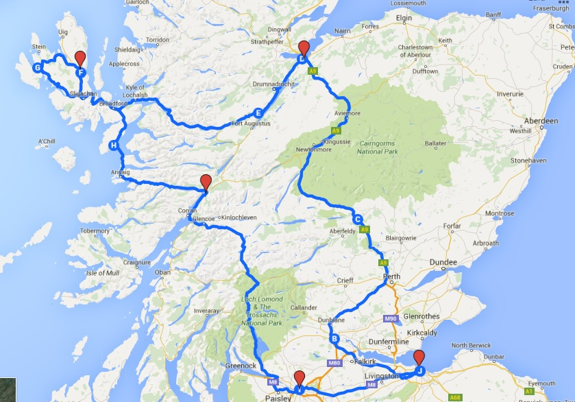 Préparer un voyage en famille en Écosse   Poussin Voyageur