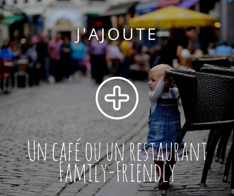 J'ajoute un café ou restaurant